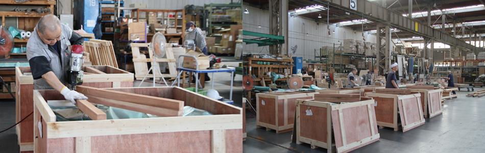 梱包業務 千歳梱包 輸出梱包 国内梱包輸送 木箱木枠製作
